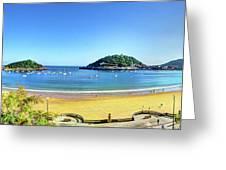 La Concha Bay San Sebastian Greeting Card