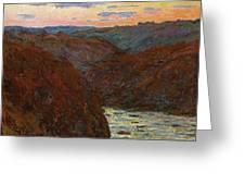 La Creuse, Sunset Greeting Card