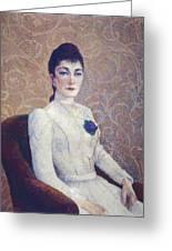 La Dame La Robe Blanche 1886 Greeting Card