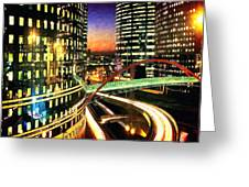 La Defense By Night - Paris Greeting Card