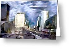 Paris La Defense Greeting Card
