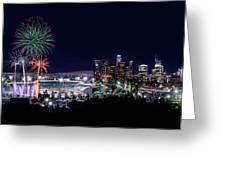 La Dodger Fireworks Greeting Card