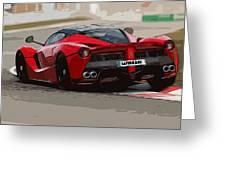 La Ferrari - Rear View Greeting Card