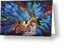 la flautista III Greeting Card