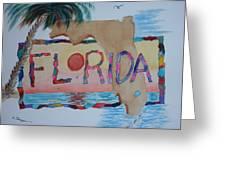 La Florida Flowered Land Greeting Card