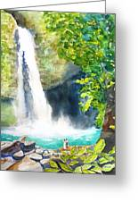 La Fortuna Waterfall Greeting Card
