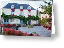 La Gacilly, Morbihan, Brittany, France, Town Hall Painting Greeting Card