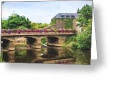 La Gacilly, River Aff, Brittany, France Greeting Card
