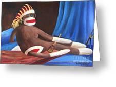 La Grande Sock Monkey Greeting Card