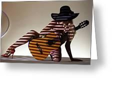 La Guitarista 2 Greeting Card