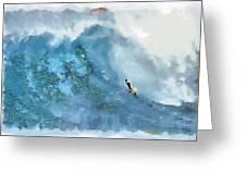 La Jolla Big Surf Greeting Card