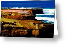 La Jolla Rocks 2 Wall Greeting Card by Russ Harris