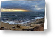 La Jolla Shores Beach Panorama Greeting Card