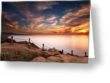 La Jolla Sunset Greeting Card by Larry Marshall