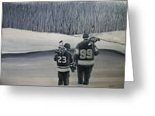 La Kings In Black And White Greeting Card
