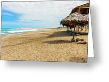 La Loberia Beach View In Salinas, Ecuador  Greeting Card