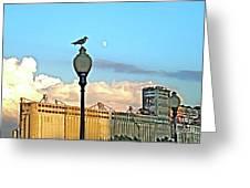 La Lune L'oiseau L'usine Greeting Card