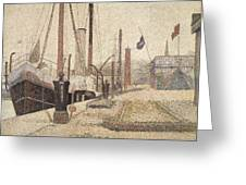 La Maria At Honfleur Greeting Card by Georges Pierre Seurat