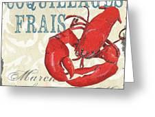 La Mer Shellfish 2 Greeting Card by Debbie DeWitt