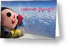 La Mexicanita Flying Greeting Card