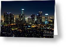 L.a. Night View Greeting Card