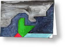 La Notte Sopra La Citta Verde - Part IIi Greeting Card