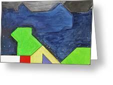 La Notte Sopra La Citta Verde - Part Iv Greeting Card