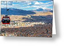 La Paz Cable Car Greeting Card