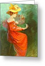 La Peinture 1900 Greeting Card