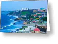 La Perla In Old San Juan Greeting Card