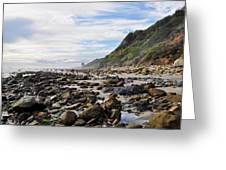 La Piedra Shore Malibu Dusk Greeting Card