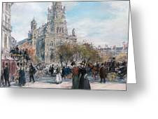 La Place De Trinite Greeting Card
