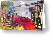 La Place Rouge Espagnole Greeting Card