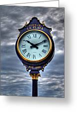 La Plata Clock Greeting Card