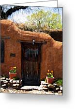 La Puerta Marron Vieja - The Old Brown Door Greeting Card