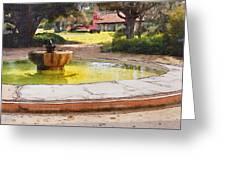 la Purisima Fountain Greeting Card