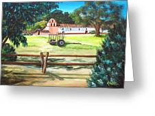 La Purisima With Fence Greeting Card