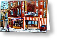 La Quebecoise Restaurant Montreal Greeting Card