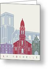 La Rochelle Skyline Poster Greeting Card