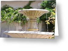 La Romieu  -fountain On The St. James Path  Greeting Card