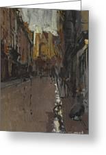 La Rue St Jacques Dieppe Greeting Card