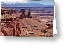 La Sal And The Canyon Greeting Card