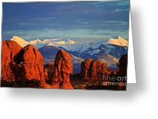 La Sal Mountains In Arches Np Utah Greeting Card