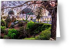 L A Skyline With Griffith Observatory - Panorama Greeting Card