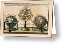 La Sphere Artificielle - Illustration Of The Globe - Celestial And Terrestrial Globes - Astrolabe Greeting Card