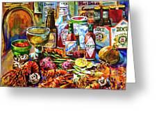 La Table De Fruits De Mer Greeting Card