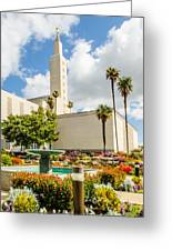La Temple Gardens Greeting Card