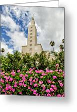 La Temple Pink Greeting Card