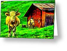 La Vaca Greeting Card