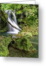 La Vaioaga Waterfall Greeting Card
